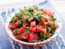 Рецепта Салата от домати с магданоз